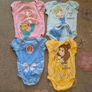 ♦️ B2G1FREE ♦️ 4 Disney princess onesie